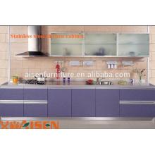 2015 Cozinha direta fabricada mini cozinha usada armário de cozinha em aço inoxidável