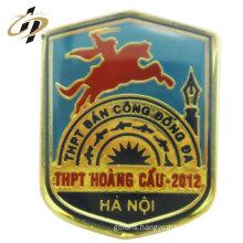 High quality custom logo casting school metal badge lapel cartoon pins