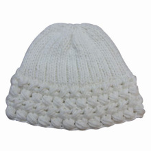 Lady Fashion Wool Acrylic Knitted Winter Warm Beanie Hat (YKY3105)
