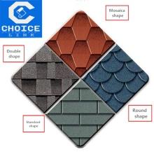 roof material colorful fiberglass reinforced asphalt shingle
