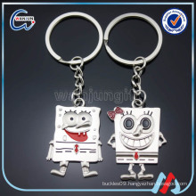 Best Friend Cute Couple Angel Keychain