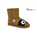 Kid's Cow Suede Low Boot Lovely Racoon