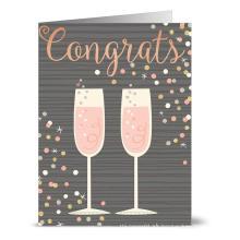 El saludo de cumpleaños de encargo le agradece cardar diseño de la tarjeta de boda