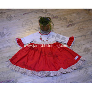 hand smocked boutique girl christmas remake dress
