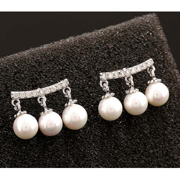 Shell Beads AAA Grade Zircon Earrings Silver Zircon Earrings