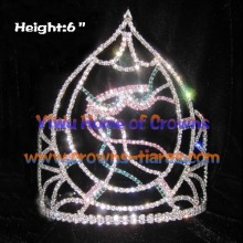 6inch Mardi Gras Crystal Crowns