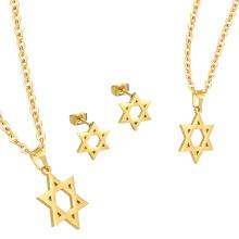 Collar barato del oro de la joyería de la joyería del acero inoxidable 316L fijado para las mujeres