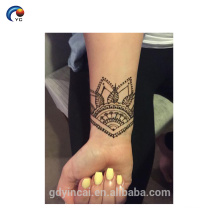 Customized mandalas tattoo sticker for women body decoration