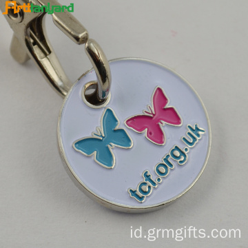 Metal Customzied Trolley Keychain Dengan Lukisan