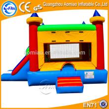 Castillo inflable del PVC de la alta calidad 0.55mm con la diapositiva, combo / bouncer inflables con la diapositiva