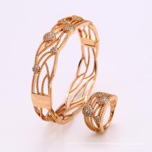 62267 kette großhandel einzigartige neueste design mode afrikanische goldschmuck set armbänder und ringe