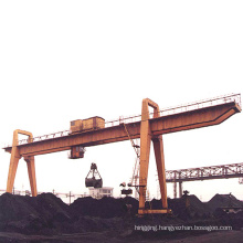 Heavy duty 30ton capacity gantry grab crane