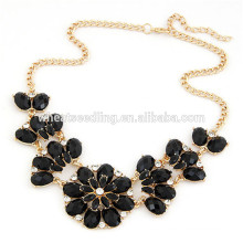 Pétalos boho hawaii más nuevo diseño de la flor oro negro gargantilla collar