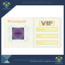 Security Hot Stamping Hologram on VIP Card