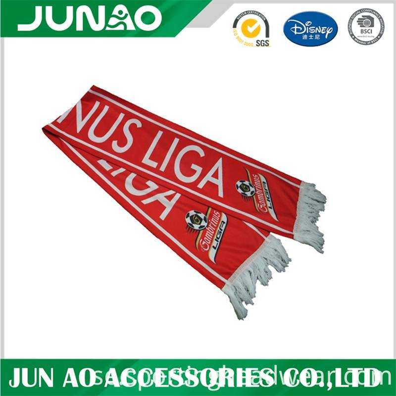 pattern scarf with logo