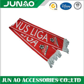 Football fans scarf with customized pattern design