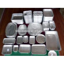 envase de papel de aluminio empaquetado de la comida desechable / bandeja / caja
