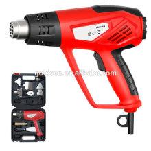 2000w de temperatura ajustable de potencia de plástico de encogimiento de calefacción de la pistola pistola eléctrica portátil de aire caliente kit de pistola