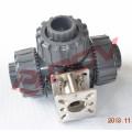 3 way l / t plastic pvc ball valve handle