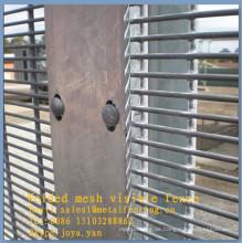 Edge schützende feuerverzinktes silbernes Maschendrahtzaun 8 Messgerätedrahtzaunzaunverkleidungs-Tafeldraht-Teiler 358 Sicherheitsfechten