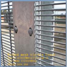 Края защитного горячего погружения гальванизированная, серебряная проволока сетка заборная 8 калибровочных проволоки пограничного ограждения панели провода делители 358 безопасности фехтование