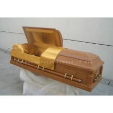 Estilo americano clássico de caixão de madeira Gwf01-05
