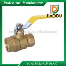 3/4 Válvula de esfera de gás fêmea de bronze forjado com alavanca de alavanca de aço