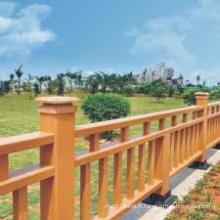Barrière et barrière composées en bois qui respecte l'environnement en bois pour la balustrade