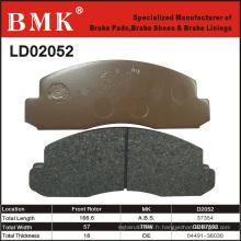 Plaquette de frein de qualité stable et avancée (D2052) pour Toyota