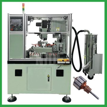Automatic vacuum cleaner and mixer motor armature commutator turning lathe machine for power tool