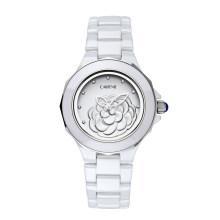 Heiße Verkaufs-Retro- Dame passt kundenspezifische Entwurfs-wasserdichte Handgelenk-Keramik-Uhren auf