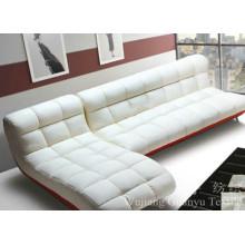 Sofá de tapicería utiliza telas de gamuza 100% poliéster