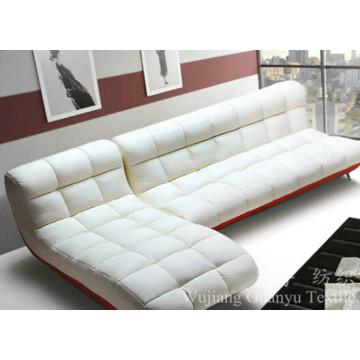 O sofá de estofamento usa telas 100% da camurça do poliéster