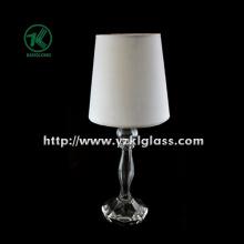 Único suporte de vela de vidro para artigos de mesa com lâmpada (KL100110-2)