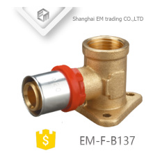 EM-F-B137 multilayer press Elbow pipe with brass Drop Ear pipe fitting
