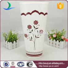 Florero de cerámica oval grande para la decoración del hogar