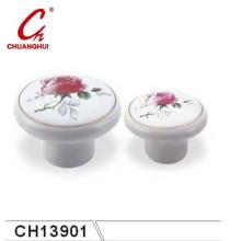 Ceramic Knob Handles with Flower Pattern (CH13901)
