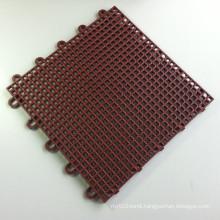 PP Interlocking Sports Flooring Tiles Square Brown