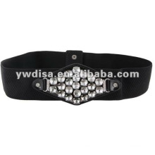 2013 Winter Fashion Rhinestone Buckle Elastic Belt