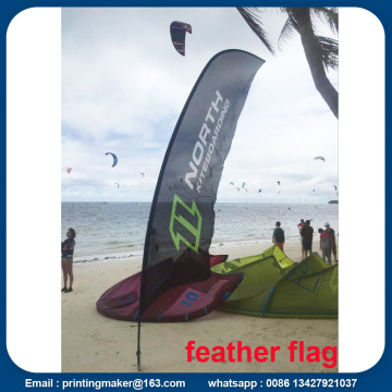 15ft Reklam Flying Beach Banner med digital utskrift