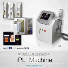 TUV ISO13485 y Medical CE ipl luz pulsada intensa para la depilación