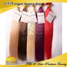 Approvisionnement direct d'usine Mode femme pas cher prix double tiré des extensions de cheveux de bande colorée