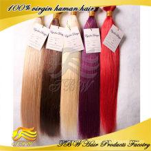 Fornecimento direto da Fábrica Moda mulher preço barato duplo desenhado extensões de cabelo fita colorida