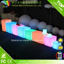 Cube de lumière en plastique