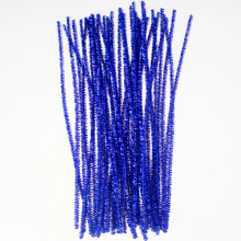Blue Glitter Pipe Cleaners décoration de Noël en or d'orge