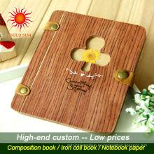 cuaderno de cubierta de madera