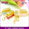 Atacado Mini Train Gold Charm Bracelet # 17596