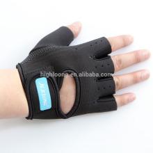 Medio dedo barato no resbalar el levantamiento de pesas gimnasia gimnasia guantes de neopreno para la formación