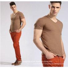 T-shirt à manches courtes à col en V classique pour hommes
