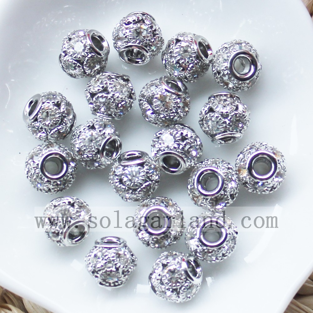 Loose Spacer Round Charms